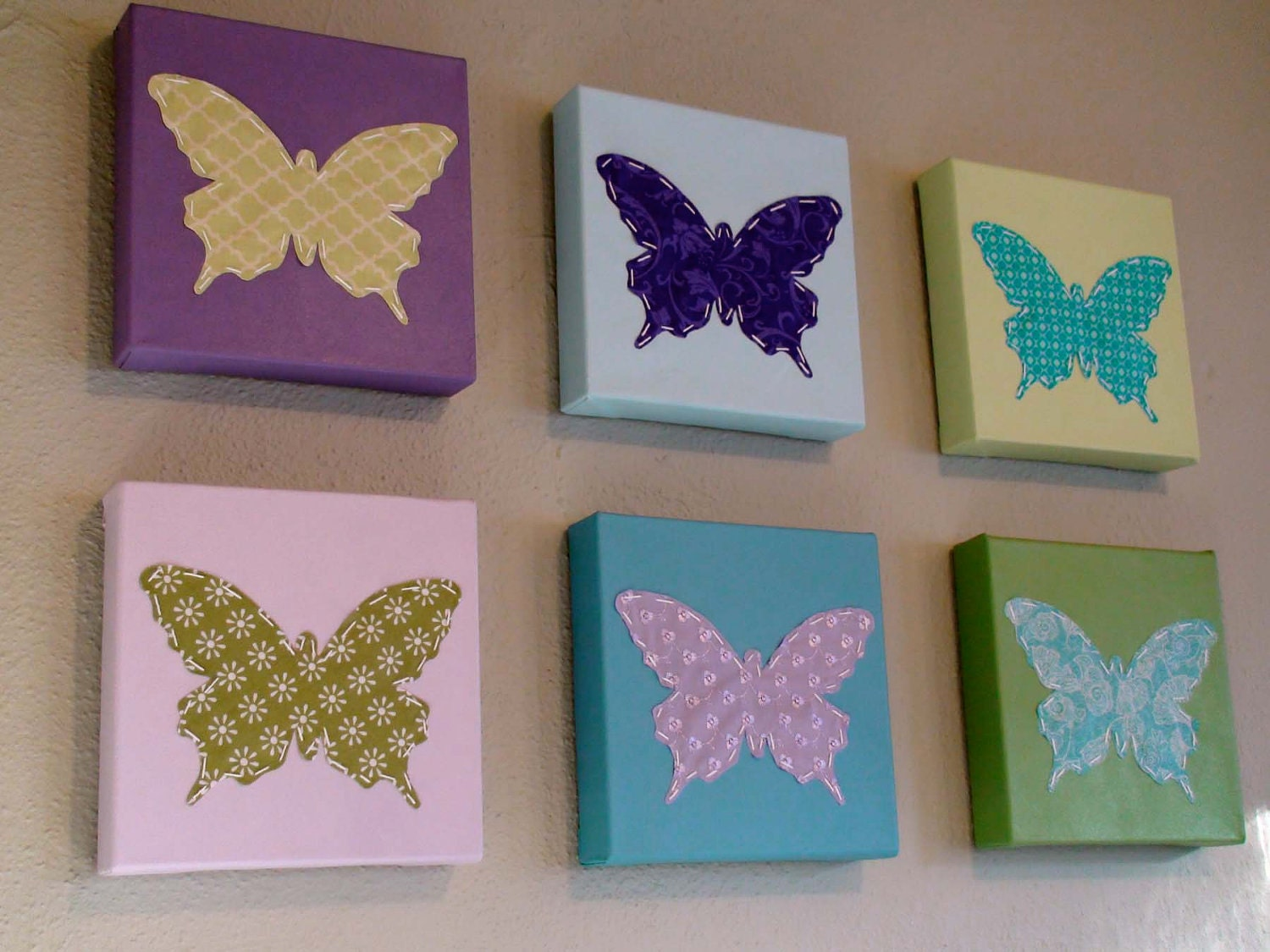 il fullxfull.304537937 8 Butterfly Canvas Wall Decorations