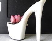 Hussy. stiletto succulent planter reclaimed high heel. bachelorette hostess gift. eco friendly