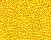 Seed Beads - Light Yellow OP - 11/0 Rocaille Czech Glass Beads - 10 gram pkg