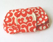 CLUTCH in Amy Butler Wallflower Red BRIDESMAID GIFT