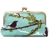 CLUTCH PURSE for Bridesmaids Joel Dewberry  Sparrow in Aqua or choose your own fabric
