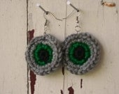 Crocheted Ring Earrings