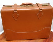 Vintage Travelgard Leather Suitcase