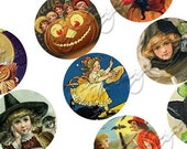 Digital Collage Sheets Halloween - 1.625 inch circles