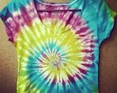 SALE- Large Organic cotton tie dye Tshirt