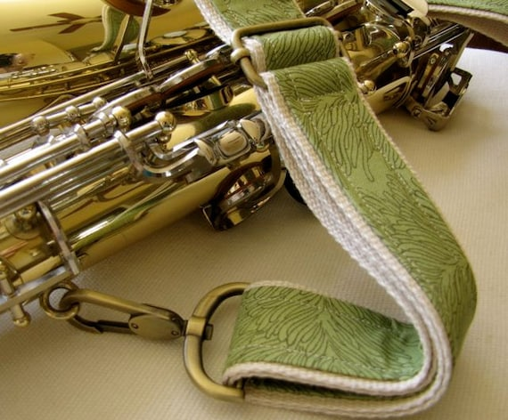 """Instrument Neck Strap, 1.5"""" Heavy Duty, Green Coral Reef"""