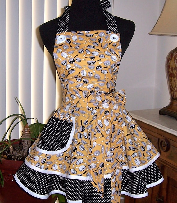 Rattle Those Pots and Pans Two Tiered Full  Apron