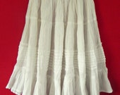 Mexican White Skirt Comfortable Elegant  Elastic Resort Sizes Long / Short