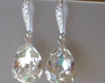 Swarovski Clear Tear Drop earrings