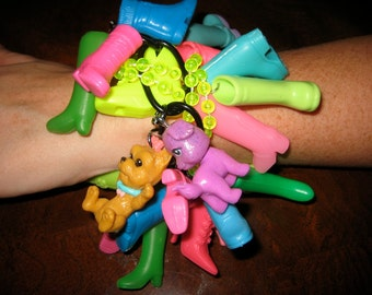 NEON Ultimate Barbie Doll BOOT Shoe Bracelet Blythe Julie O'Connell