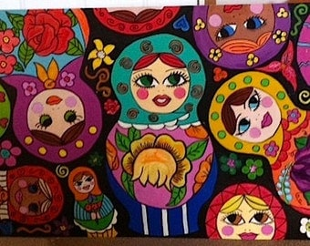 MATRYOSHKA, Doll, Russian Nesting, Doll Painting, Barbie