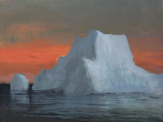 Iceberg at Sunset