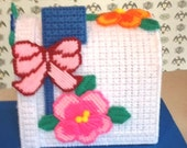 Needlepoint Tissue Box Cover, Pansy Mailbox