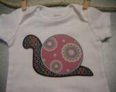 Girly Snail Onesie or TShirt