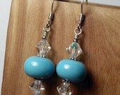 Handmade Lampwork & Swarovski Crystal Earrings 50% off
