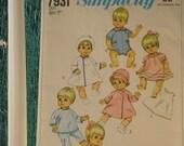 Vintage Simplicity 7931 Baby Doll Wardrobe