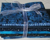 SKY and WATER  7 Fat Quarters - Beautiful Blues