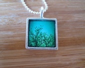 Green Peace Sterling Silver Tree Forest Necklace