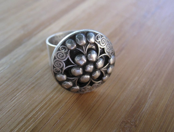Freedom Silver Adjustable Ring