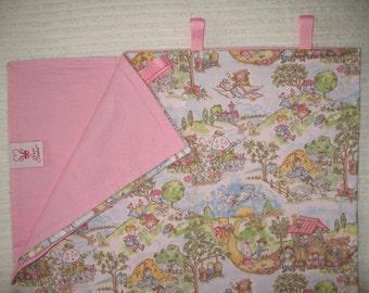 Blanket-Nursery Rhymes w/ Pastel Pink Back