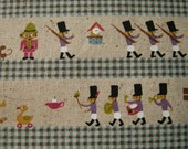 L0002 - Japanese cotton linen blended fabric - Lovely Soldiers (blue) - by the yard