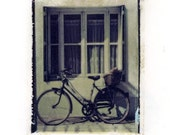 Bicycle and Baguette - Limited Edition Print of Polaroid 669 Transfer Signed by Artist