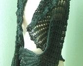 HILDEGARD, Crochet shrug pattern, PDF
