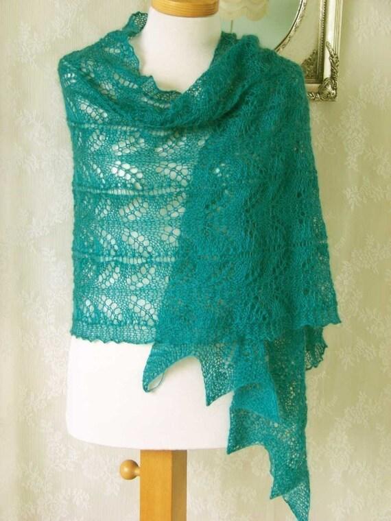 HEMINGWAY, Knitting shawl pattern, PDF