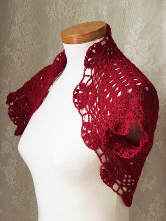RUBY, Crochet shrug pattern, PDF