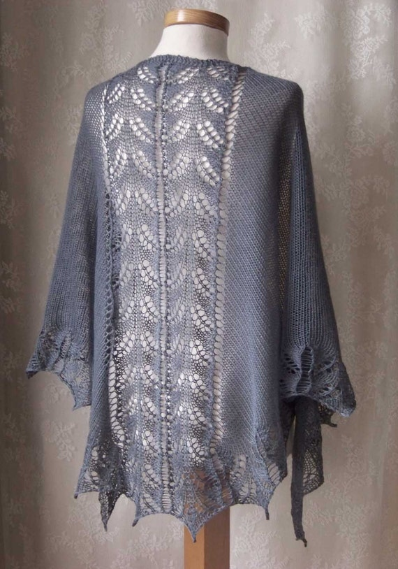 TABATHA, Knitting shawl pattern, PDF
