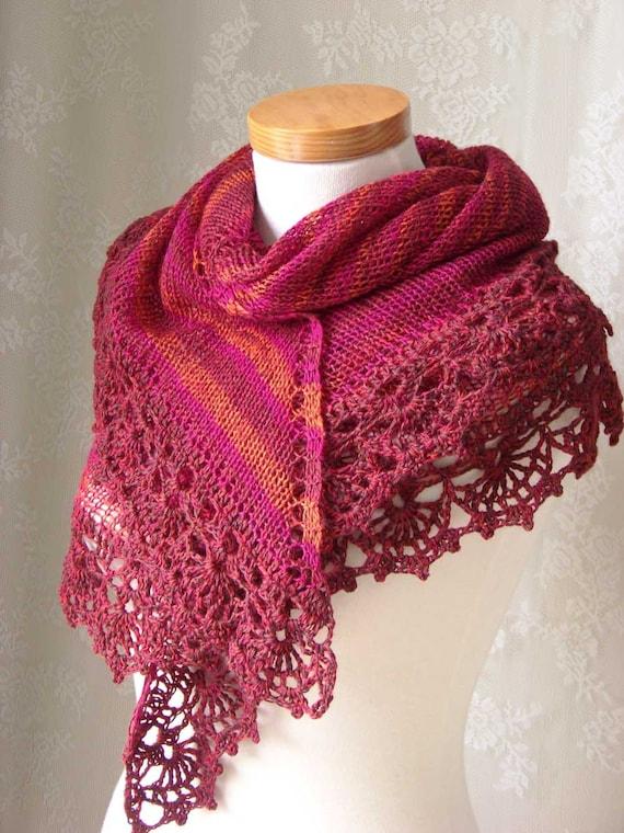 PAULA, Knit/crochet shawl pattern, PDF