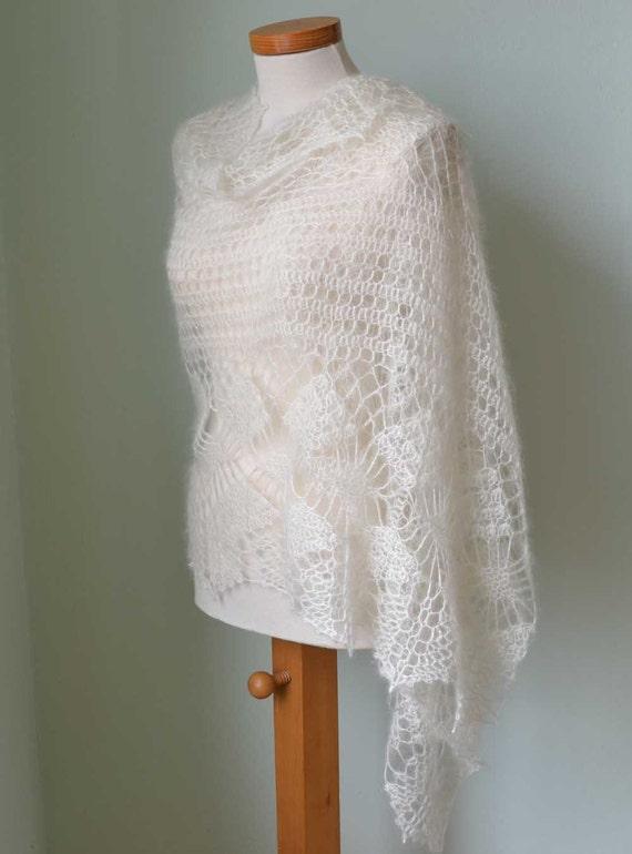 Crochet pattern, Luna shawl, PDF pattern