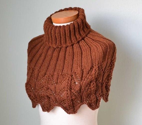 IRENE, Knitting capelet pattern, PDF