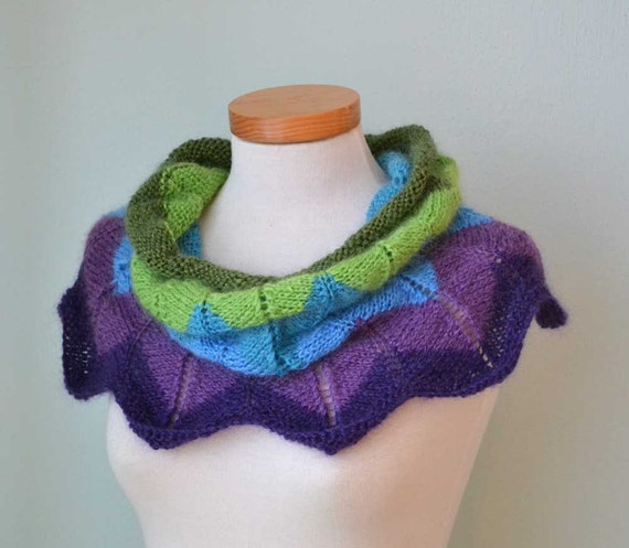 FLOWER, Knitting cowl pattern, PDF