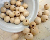 Reserve Listing for SilverMonk - Round Wooden Beads - Natural - 12mm - Pack of 100