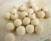Round Wood Beads - Natural - 16mm - Pack of 50