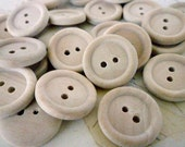 Wooden Buttons, Three Quarter Inch Round Wood Buttons, Pack of 50