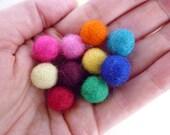 Felt Balls SMALL x 50 - Mixed Colours - 1cm