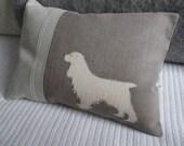 hand printed spaniel cushion