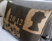 limited edition greys  handprinted Olympic postcard cushion cover