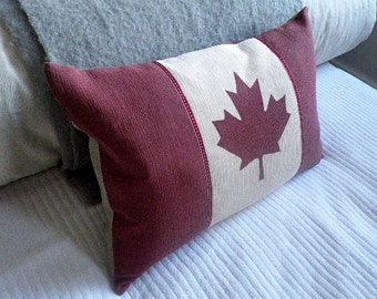 New Canadian reversible flag cushion