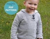 Urban Unisex Hoodie pattern and tutorial 6M - 5T PDF pattern  boy girl