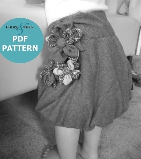 Flower Bubble Skirt pattern and tutorial 12M-4T QUICK SEW pdf