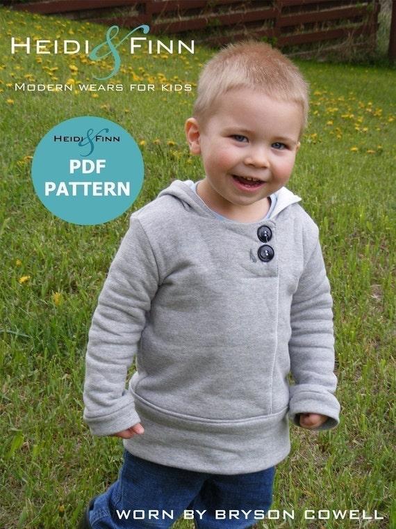 NEW Urban Unisex Hoodie pattern and tutorial 6M - 5T PDF pattern DIY boy girl