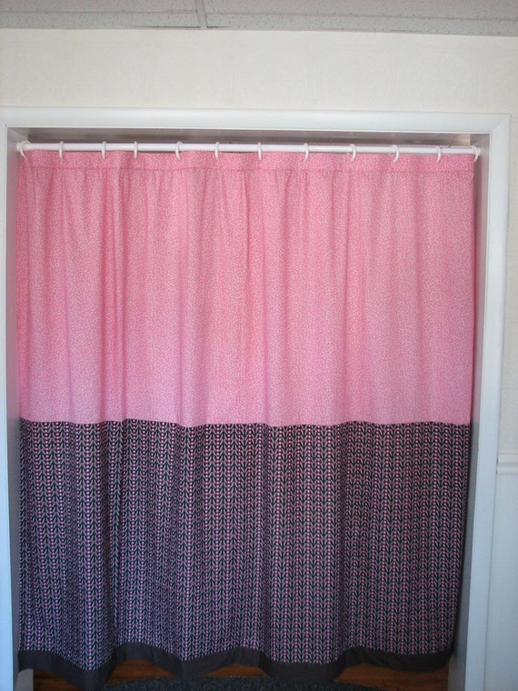 Pink And Brown Shower Curtain By PositivelyBiased On Etsy