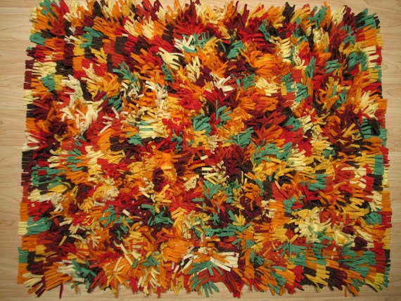Autumn Colorburst Shag Rug