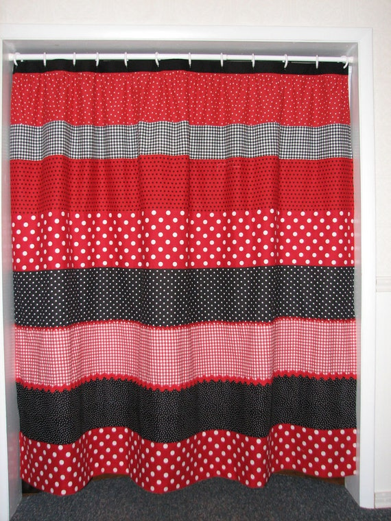 Red And Black Polka Dot Shower Curtain Sale Was 65