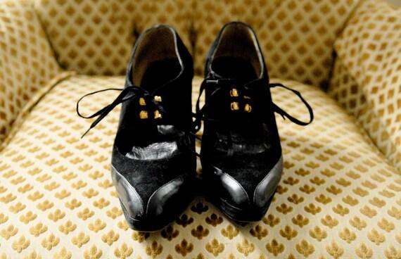 black italian lace up pumps 8