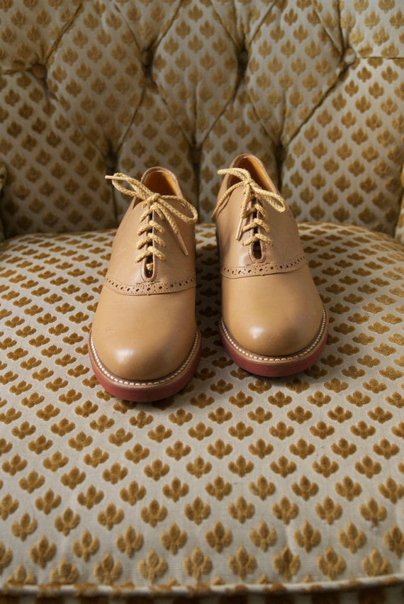 RESERVED FOR HOLLY tan cole haan brogues 7.5