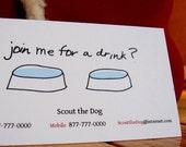 Dog Drinks Calling Cards - Set of 21